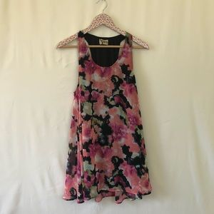 SMYM sleeveless floral swing dress size medium